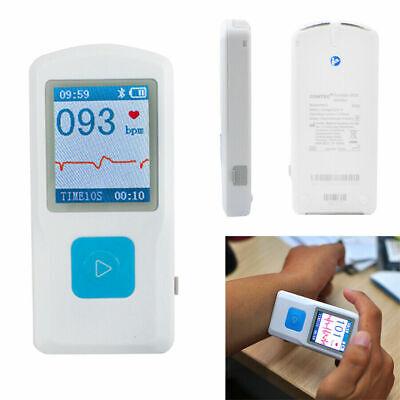 Portable Ecg Ekg Machine Lcd Heart Beat Heart Rate Monitor Bluetooth Mini Fda Ce
