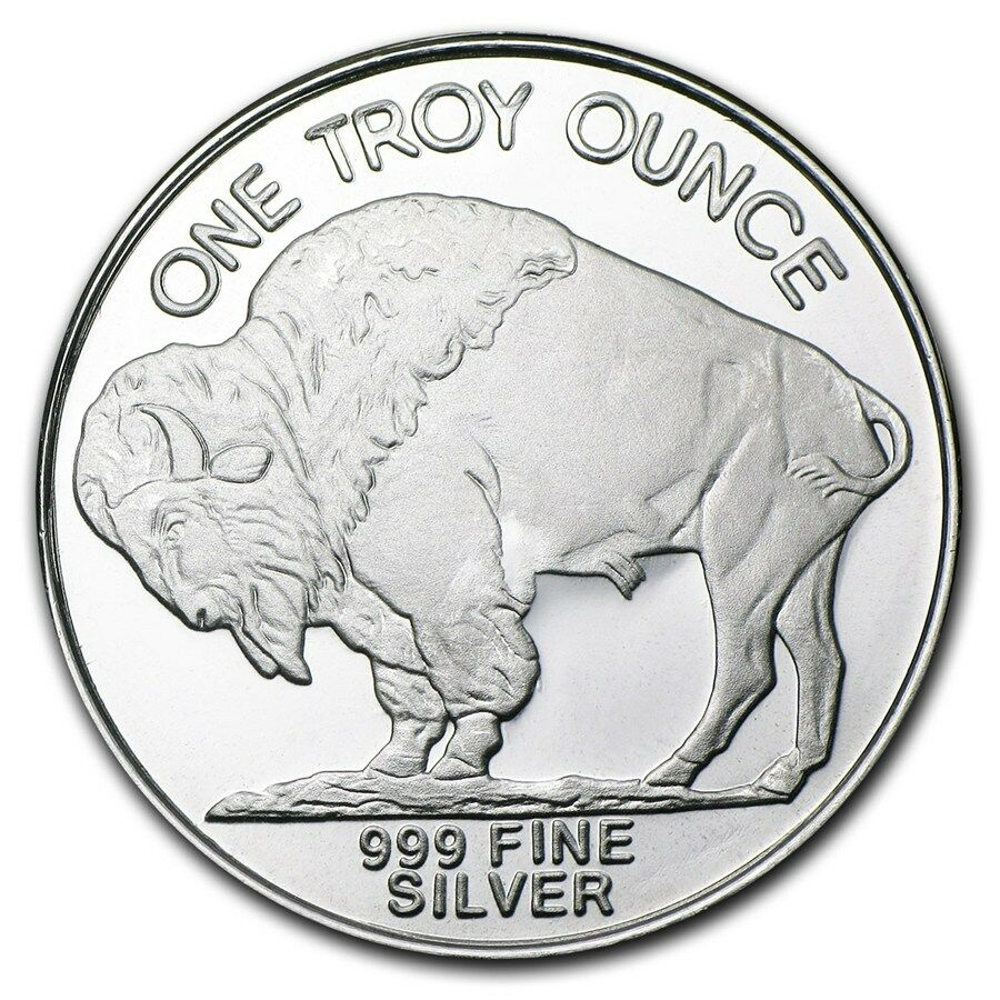 1 oz Silver Buffalo Round .999 Fine (Lot, Roll, Tube of 20) - SKU #74759