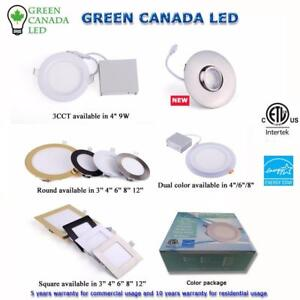 'Big Sale' 30% Discount- 4'' LED Slim Panel / Recessed Potlight 9W = 60W, cUL - IC Rated - 5 Years Warranty - 10.75 $