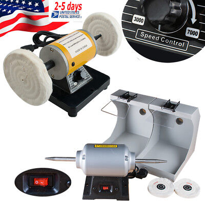 Polisher Polishing Machine Jewelry Dental Lab Lathe Buffing 3k-7k Speed Control
