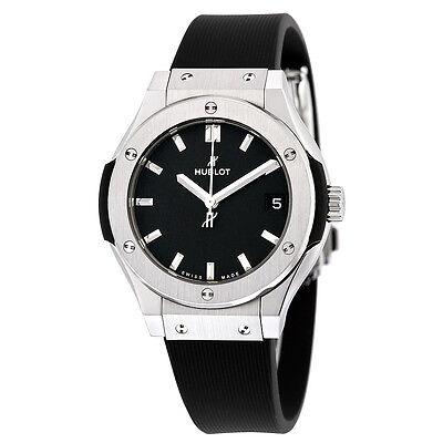 Hublot Classic Fusion Black Dial Black Rubber Ladies Watch 581NX1171RX