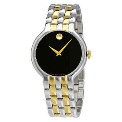 Movado Veturi Black Dial Two-tone Men's Watch 0606932