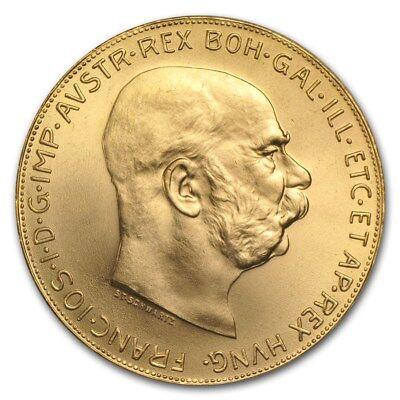 SPECIAL PRICE! Austria Gold 100 Coronas BU (Random) - SKU #167645