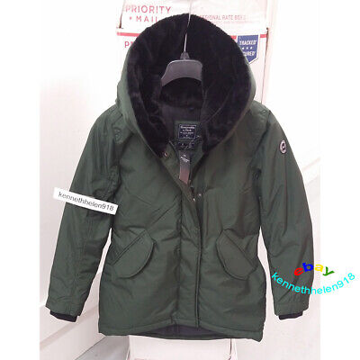 ABERCROMBIE & FITCH WOMENS THE A&F COZY PARKA COAT JACKET GREEN SIZE MEDIUM