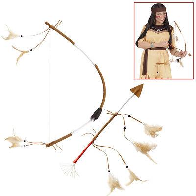 INDIANER PFEIL & BOGEN Western Party Apache Häuptling - Indianer Häuptling Kostüm Zubehör