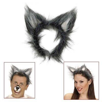 Karneval Wolf Ohren Tier Verkleidung Natur Kostüm Party 2324 (Tier Kostüme Ohr)