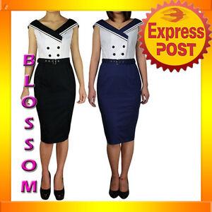 RK65-Ahoy-Vintage-Nautical-Sailor-50s-Rockabilly-Pin-Up-Uniform-Dress-Costume