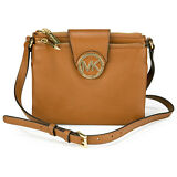 Michael Kors Large Fulton Pebbled Crossbody in Luggage