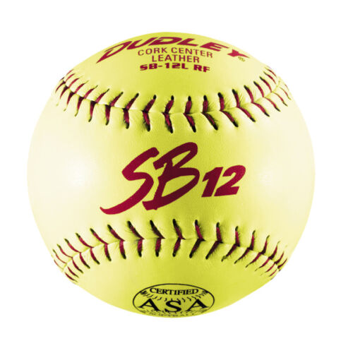 "Dudley 12"" ASA SB12L Slowpitch Softball - Dozen"