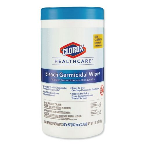 CLOROX WIPES Disinfectant With Bleach Cleaning HUGE 150/Canister Meets CDC/OSHA