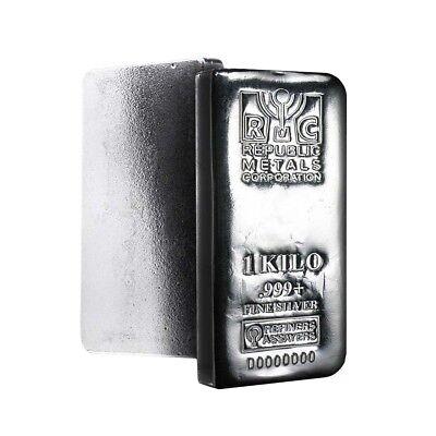 1 Kilo Republic Metals (RMC) Silver Bar .999 Fine