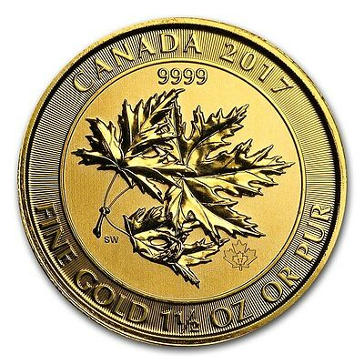 2017 1.5 oz Canadian Gold Maple Leaf $150 Coin .9999 Fine - The MegaLeaf - RCM