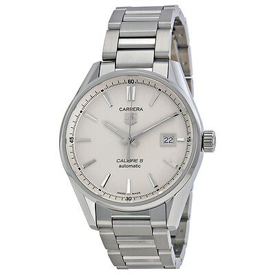 Tag Heuer Carrera Calibre 5 Stainless Steel Mens Watch WAR211B.BA0782