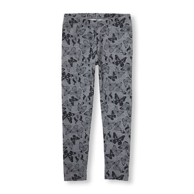 NWT The Childrens Place Butterfly Girls Gray Leggings XS S 4 5-6