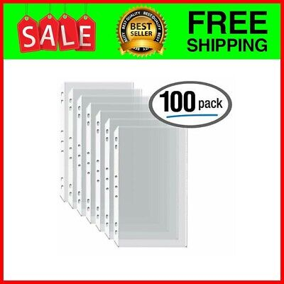100box Legal Size Clear Heavyweight Poly Sheet Protectors 8.5 X 14