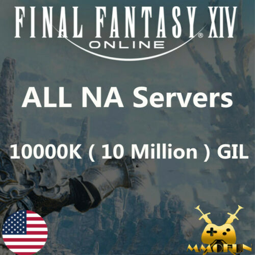 FINAL FANTASY XIV FFXIV FF14 GIL 10000K 10 MILLION 10M All NA Server Item GOLD