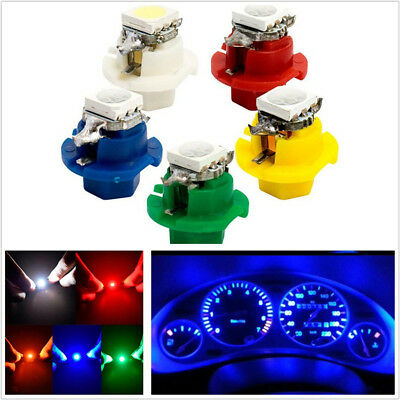 50 Pcs Car 5-Color 5050 1SMD LED B8.4D Indicator Gauge Dashboard Side Lights 12V