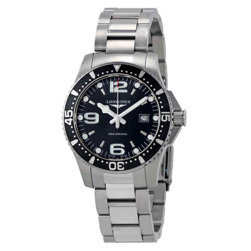 Longines HydroConquest Black Dial Men 39mm Watch L3.730.4.56.6