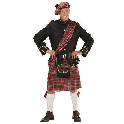 HERREN SCHOTTEN KOSTÜM SET Karneval Schottenrock Schottland Kilt Rock Mütze - Herren Kilt Kostüm