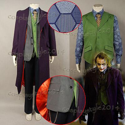 Batman:The Dark Knight Rise Joker Cosplay Costume Outfit Suit Tuxedo Full Set