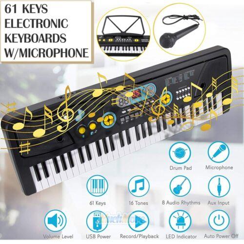 61 Keys Full Size Electronic Digital Piano Keyboard  w/ Musi