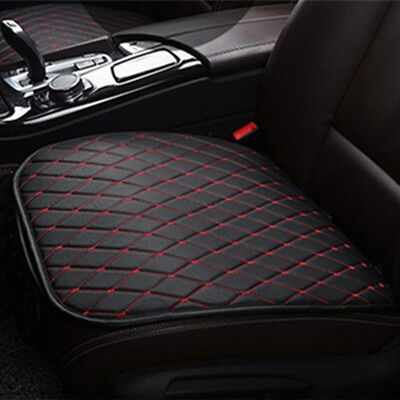(Auto Seat Cover Front Cushion Black PU+Red Line Universal Car Chair Accessories)