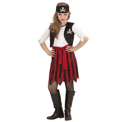 KINDER PIRATIN KOSTÜM Karneval Fasching Party Mädchen Piraten - Piraten Kinder Kostüme