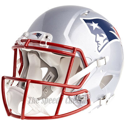 NEW ENGLAND PATRIOTS RIDDELL NFL FULL SIZE AUTHENTIC SPEED FOOTBALL HELMET