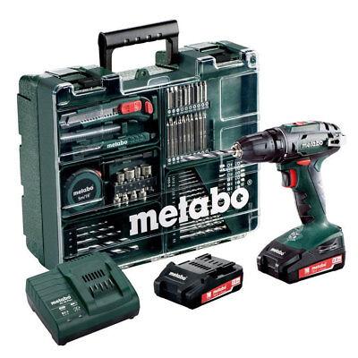 Metabo BS18 Akku-Bohrschrauber SET mit 2x 18V 2,0 Ah + Lader + Mobile Werkstatt ()
