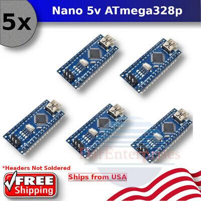 5pcs Arduino Nano V3.0 5v 16m Atmega328p Micro-controller Board Mini Usb Ch340g