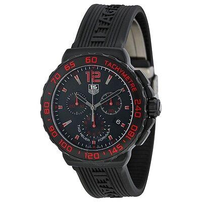Tag Heuer Men's Formula 1 Chronograph Black & Red Titanium watch CAU111D.FT6024