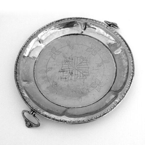 Shaving Bowl Cast Swing Handles Spanish Colonial Silver 1820