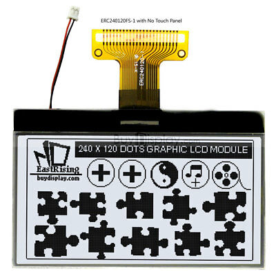 3white 240x120 Cog Graphic Lcd Module Displayparallelspi Serial Wtutorial