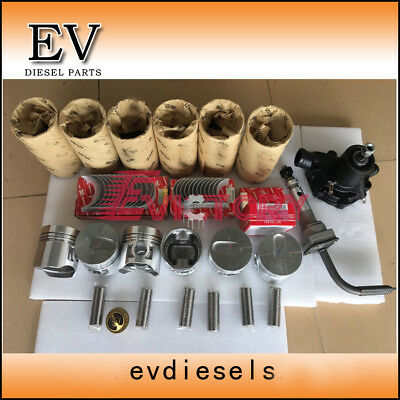 S6E engine rebuild kit S6E piston+ ring liner gasket bearing wate&oil pump