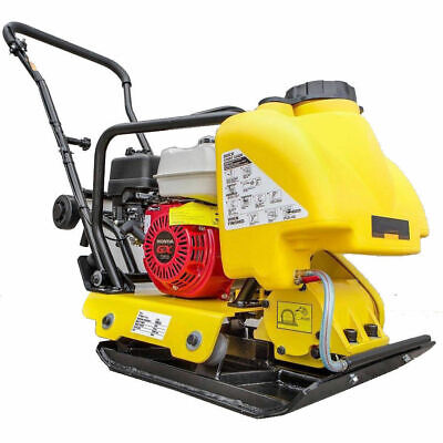 Vibrating Plate Compactor With Honda Engine Gx160 5.5 Hp Gas Wwater Tank Hd