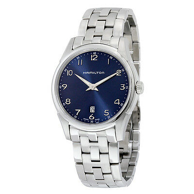 Hamilton Jazzmaster Thinline Blue Dial Stainless Steel Mens Watch H38511143