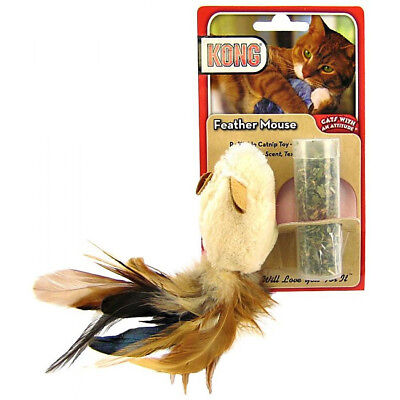 Feather Tailed Mouse Cat Toy with Catnip Refill