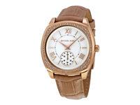 Michael Kors MK2388 Womens Bryn Tan Steel Gold Plated Case Wristwatch SALE