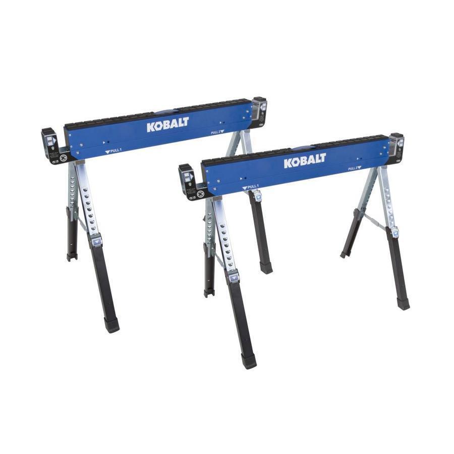2-Pack Kobalt 42-in Steel Adjustable Saw Horse (1300-lb) Heavy Duty Durable New