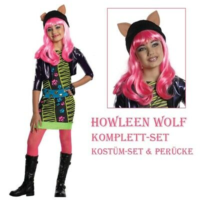 Howleen Wolf Kinder Kostüm & Perücke Halloween Karneval - Howleen Monster High Kostüm