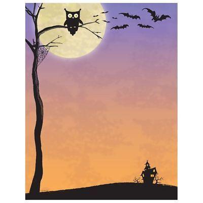 Halloween Computer Paper (Halloween Who Owl, Bats & Haunted House Computer Printer Paper (80 Sheet))