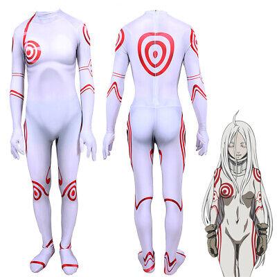 Anime Costume For Kids (Anime DEADMAN WONDER LAND SHIRO Bodysuit Domino Cosplay Costume For Adult &)