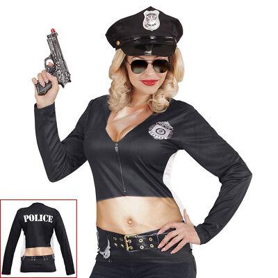 Polizist Kostüme Damen (POLIZISTIN SHIRT Karneval Fasching Polizist Cop Damen Kostüm Gag Party S/M 98705)
