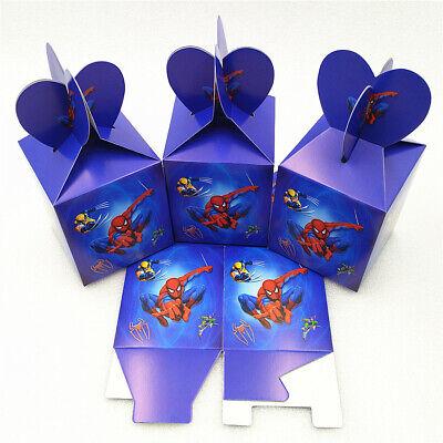Super Hero Candy (12 Pcs Spiderman Super Hero Boys Candy Box Kids Birthday Party Supplies)