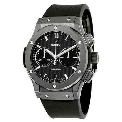 Hublot Classic Fusion Automatic Chronograph Black Magic Matt Carbon Fiber Dial