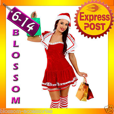 Christmas Costum (F22 Santa Claus Christmas Helper Fancy Dress Costume Xmas Party Outfit & Hat)