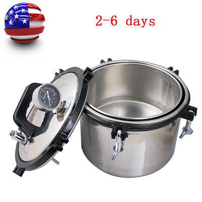 8l Portable Stainless Steel Steam Autoclave Sterilizer Dental Clinic Equipment