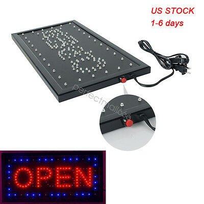 Usa Bright Classic Vertical Open Led Light Business Store Bar Cafe Sign Neon