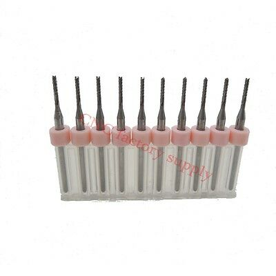 Pcb Milling Cutter 0.8mm 10pcs Milling Cutter Tungsten Carbide 3.175mm Cnc