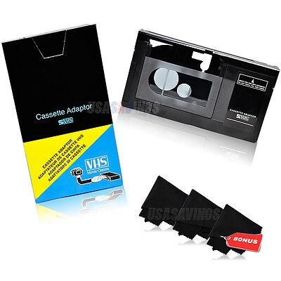 Motorized VHS-C Cassette Adapter for JVC~Panasonic +3 MICROFIBER CLEANING CLOTHS